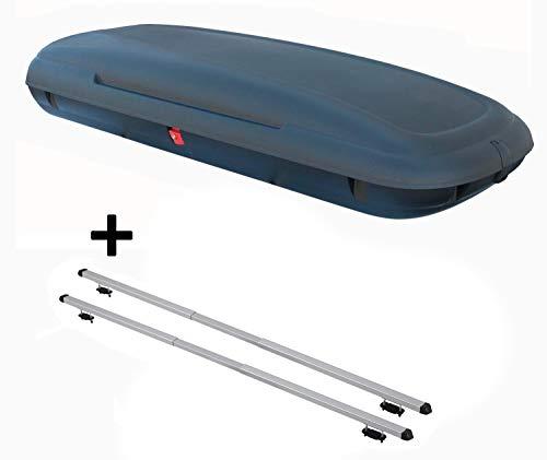 Coffre de Toit VDPCA480 480 l Aspect Carbone + Barres de Toit Rapid Compatible avec Audi A4 (B5/8D) Avant (5 Portes) 94-00
