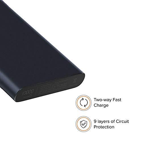 Mi 10000mAH Li-Polymer Power Bank 2i (Black) with 18W Fast Charging Image 3