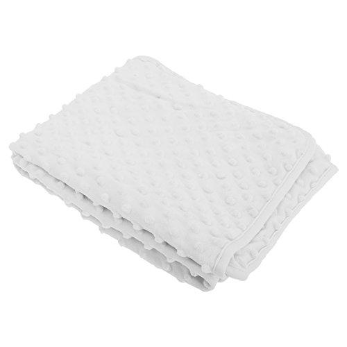 Couverture texturée - Bébé unisexe (75cm x 90cm) (Blanc)