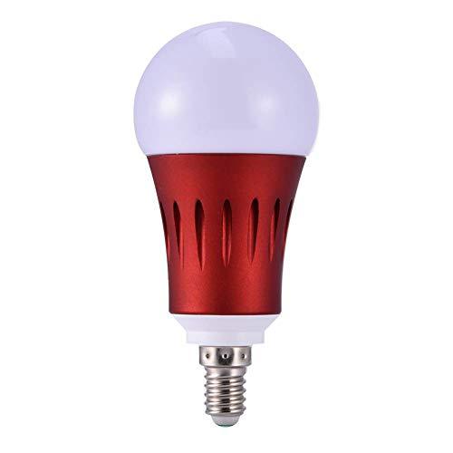 Yeahlvy WiFi La Bombilla LED Inteligente Lámpara Regulable de 7W RGB E14/E27 Funciona con el Control Remoto de Alexa Google Home controlado por teléfono Inteligente Size E14 (Red)