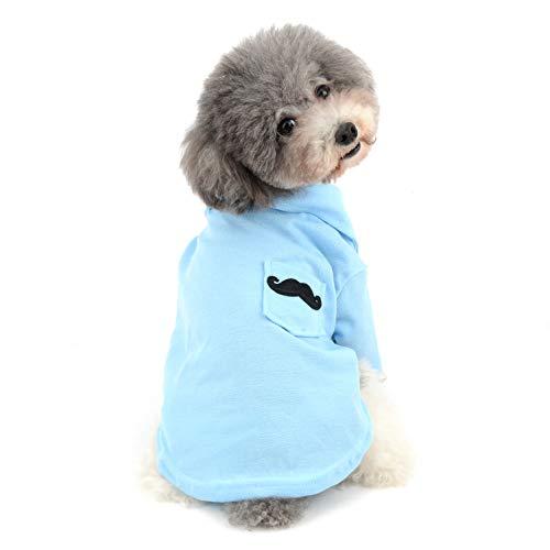 Ranphy Baumwoll-Polo-Shirt für kleine Hunde, einfarbig, weich, bequem, für den ()