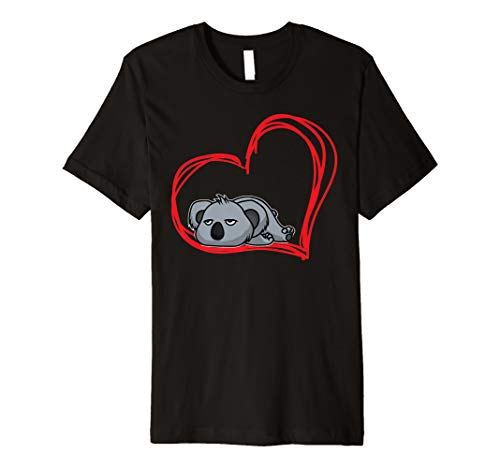Lazy Sleepy Koala Love Fun T-shirt Girls Women Animal Gifts (Sleepy Bear Tee)