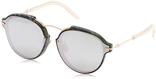 Dior Damen DIORECLAT DC GC1 Sonnenbrille, Grün (Grnmrbl Gold/Extra White Marl), 60