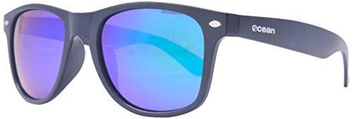 OCEAN SUNGLASSES - Beach Wayfarer - lunettes de Soleil polarisÃBlackrolles - Monture : Noir Mat - Verres : Revo Vert (18202.46)