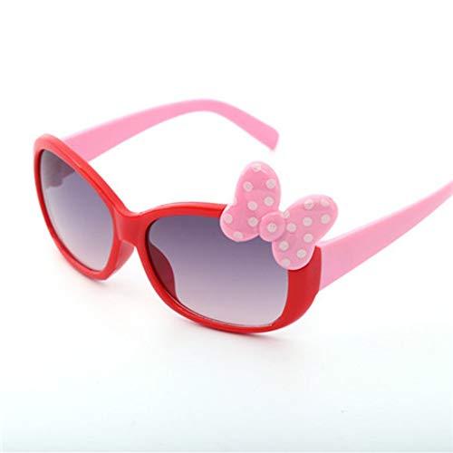 MoHHoM Sonnenbrillen Für Kinder,Fashion Cat Eye Cute Bug Kinder Sonnenbrille Für Junge Mädchen Baby Sonnenbrille Kinder Sport Outdoor Schatten Brillen Uv400 Rot