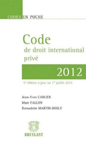 Code de droit international privé 2012