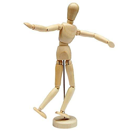 AblueA Manikin Spielzeugfigur aus Holz, männlich/weiblich, Torso-Modell für Anfänger, Künstler, Figurenzeichen, 30,5 cm - Weiblicher Torso-modell