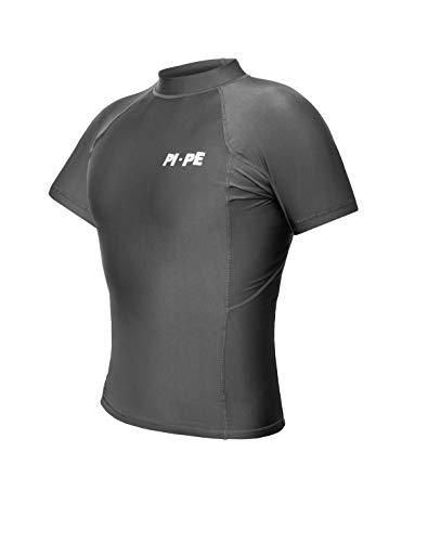 PI-PE Rash Guard Herren S/S Short Sleeve Grey XXL -