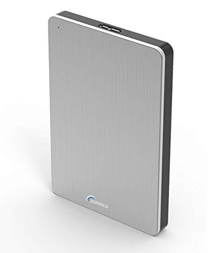 Sonnics 500 GO argent Disque dur externe portable USB 3.0 Super rapide Vitesse de transfert pour une utilisation avec un PC Windows, Apple Mac, Xbox One et PS4