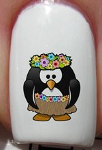 pingouin d'Hawaii - Stickers pour ongles YRNAILS
