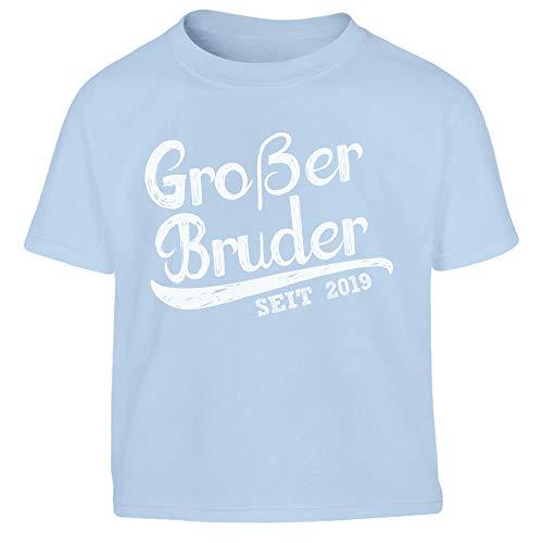 Großer Bruder seit 2019 Kleinkind Kinder Jungen T-Shirt 96/104 (3-4J) Hellblau