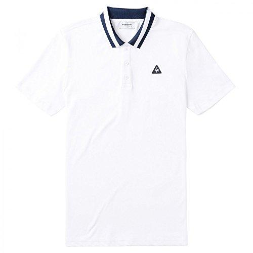 Le Coq Sportif Herren Poloshirt Weiß - weiß