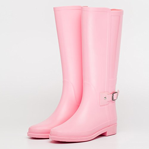 autunno e in inverno stivali impermeabili signora pioggia Pink