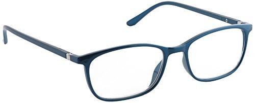 Pachleitner Elegante Lesehilfe mit Federscharnier und metallic Lackierung inklusive Etui, blau / +3.5 Dioptrien,