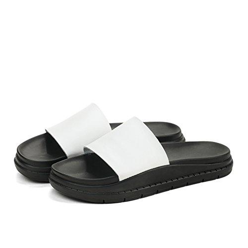 Indossare sandali piatti in pelle/Pantofole antisdrucciolo B