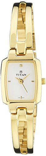 Titan Karishma Analog White Dial Women's Watch - NE2131YM09 image