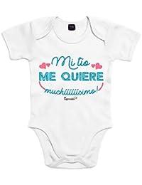 5a57789e512 SUPERMOLON Body bebé algodón Mi tío me quiere muchísimo ...