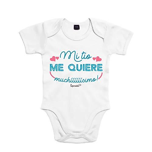 SUPERMOLON Body bebé algodón Mi tío me quiere muchísimo 3 meses Bl