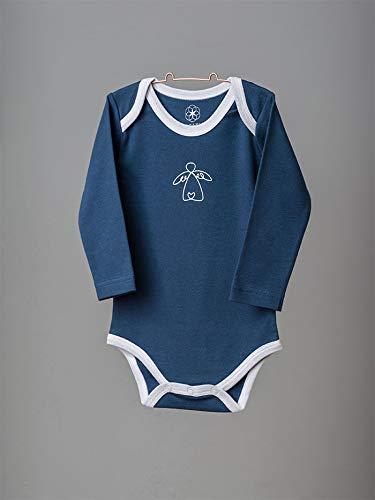 Organic by Feldman Unisex Baby Body Langarm aus Bio Baumwolle, GOTS Zertifiziert, Schutzengel Ozeanblau, (86/92) - 3