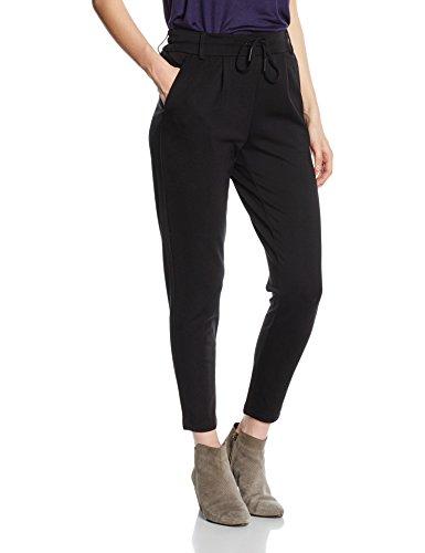 ONLY Damen Bundfalten Hose 15115847, Gr. 38/L30 (Herstellergröße: M), Schwarz