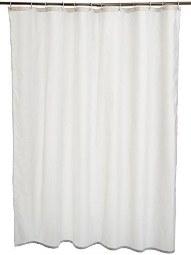 AmazonBasics Duschvorhang, wasserabweisend, mit verstärktem Saum, Polyester, 180 x 200 cm, Weiß -