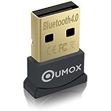 QUMOX Bluetooth 4.0 USB adaptador/Dongle, Bluetooth Transmisor y receptor para Windows 10/8,1/8/7/Vista, Plug and Play compatible con Windows 7 y superior