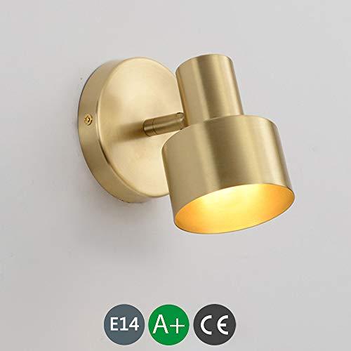 LED Apliques Pared Interior Dorada Cálida Lámpara De Pared Blanca Dormitorio Sala De Estar Apliques...