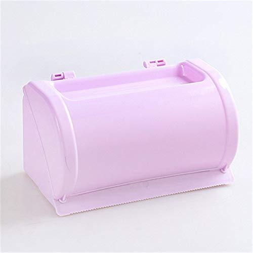 Mouchao Tissue Box kreisförmige Pumpschale Plexiglas Toilettenpapierhalter Serviettenhalter lila