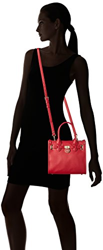 Tommy Hilfiger AMERICAN ICON MINI TOTE SAFFIANO, Sacs bandoulière Rouge - Rot (Scooter Red 603 603)