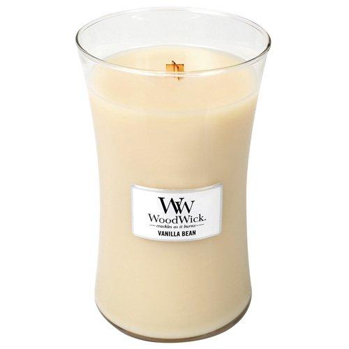 Woodwick, Vanilla Bean Duftkerze im Glas, Weiß (Woodwick Kerzen Vanille)