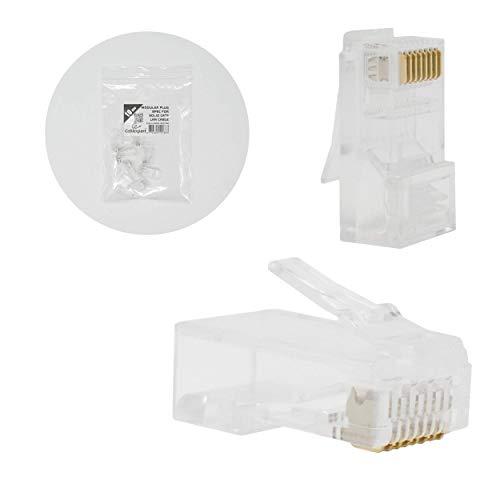 I-CHOOSE LIMITED Modularer Stecker 8p8c für Festes CAT6 LAN Kabel - 10 Stück pro Beutel -