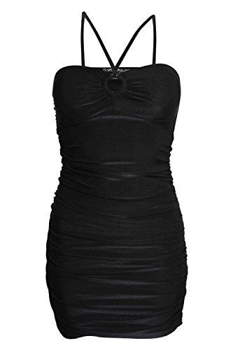 PILOT® savane robe moulante à lanières de côté froncé Noir