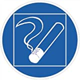Rauchen innerhalb begrenzten Raumes gestattet 20cmØ Alu