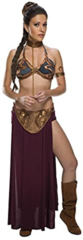 Sexy Princess Leia Slave Ladies Fancy Dress Star Wars Adults Womens Film Costume (Eighties-kostüme Für Erwachsene)