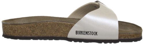 Birkenstock - Madrid, Sandali Donna Bianco (Graceful Pearl White))