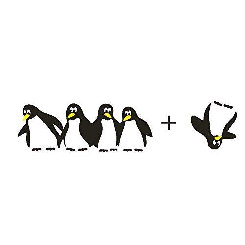 Runstickers Geschnitzter Pinguin Diy Vinyl Haushaltskunst Wandtattoos Bunte Interessante Aufkleber Wanddekor Abnehmbare -