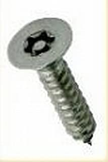 "Anti Vandal A2 100 PACK 6g x 1//2/"" Pin Hex Button Head Self Tappers FREE BIT"