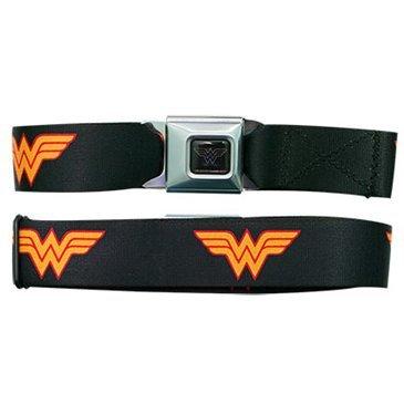 DC Comics Wonder Woman Auto Sicherheitsgurt Schnalle Schwarz Strap Gürtel, offizielles Lizenzprodukt (Gürtel Offizielle)
