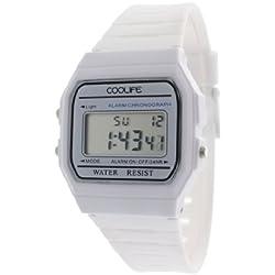 Coolife Unisex-Armbanduhr Retro Style Watches Digital Quarz Plastik CL2013G902