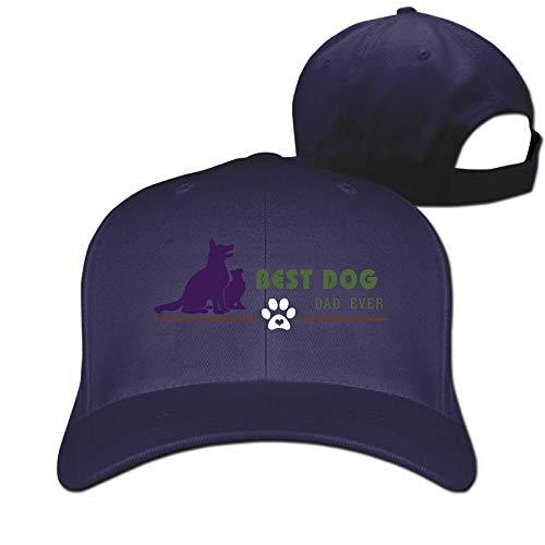 Rghkjlp Best Dog DAD EVER2 Unisex-Plain Baseball Caps Washed einstellbare Papa Hüte