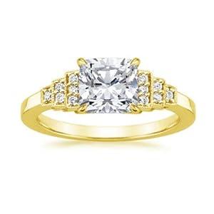 Addamas Verlobungsringe 1,09ct Diamant im Kissenschliff massiv Gelbgold