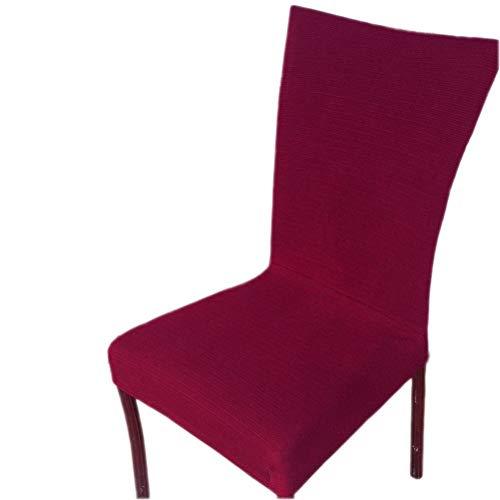 Inroy Stretch Stuhlhussen, Bi-Elastic Stuhlbezug,Stuhlüberzug für universelle Passform (4-Stück, Weinrot)