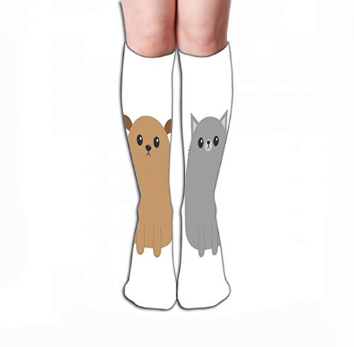zengjiansm Hohe Socken Print Women's Knee High Socks 19.7