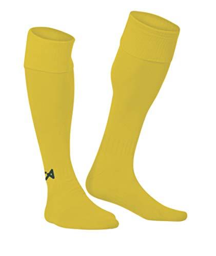 Calcetines amarillos altos de fútbol