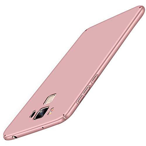 Asus Zenfone 3 Max ZC553KL Hülle, Zenfone 3 Max ZC553KL Case Ultra Dünne Hart PC Hardcase Handyhülle Stoßfest Schutzhülle Anti-Fingerabdruck Hüllen Anti-Scratch Bumper Cover + Panzerglas,Rose Gold