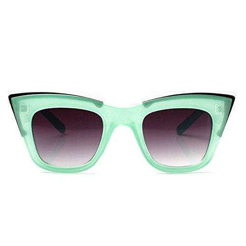 Accessoryo - Damen mint klar Quadrat geflügelten Retro Sonnenbrille umrahmt