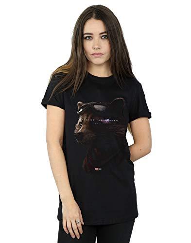 Marvel Damen Avengers Endgame Avenge The Fallen Rocket Boyfriend Fit T-Shirt Schwarz Medium