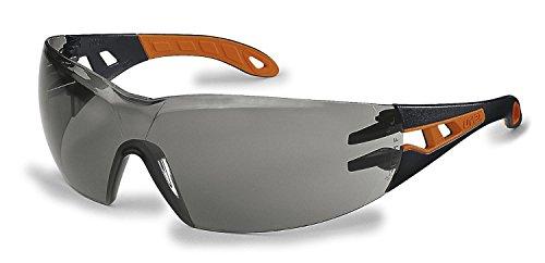 Uvex Arbeitsschutzbrille/Bügelbrille 9192 pheos, orange/schwarz, 1 Stück, 9192245