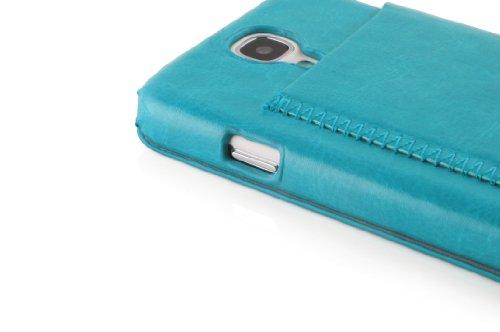 JAMMYLIZARD | Luxuriös Flip Ledertasche Hülle für iPhone 5 / 5s und iPhone SE, Rotbraun TÜRKIS GRÜN