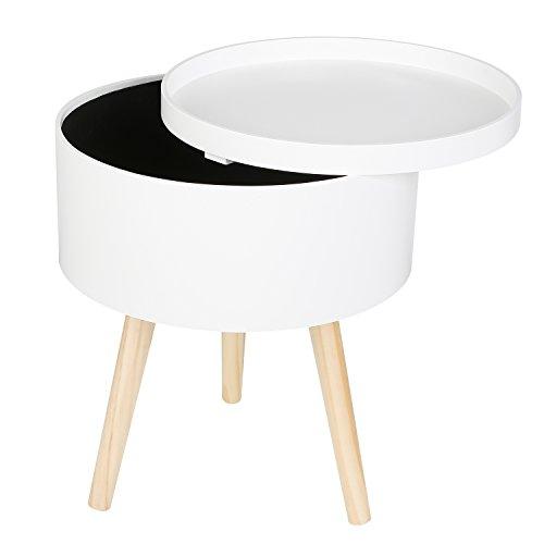 Couchtisch Wohnzimmertisch Sofatisch Kaffeetisch Tisch Holz weiß 38x18x46cm ()